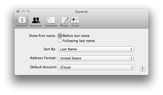 Making Address Book sync properly to iCloud