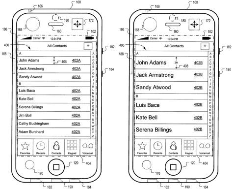 Apple patents automatic motion-adjusting UI 1