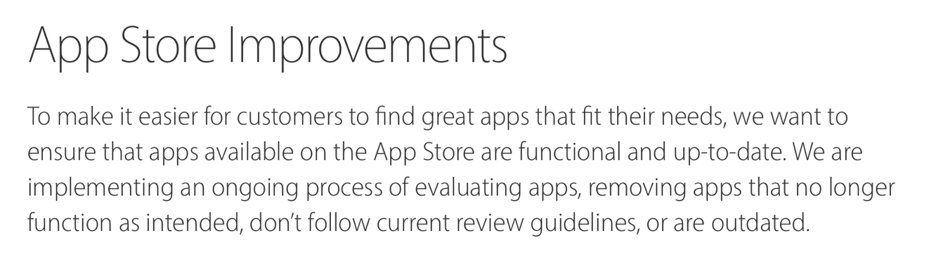 Apple to begin removing outdated and non-functional apps from App Store on Sept. 7