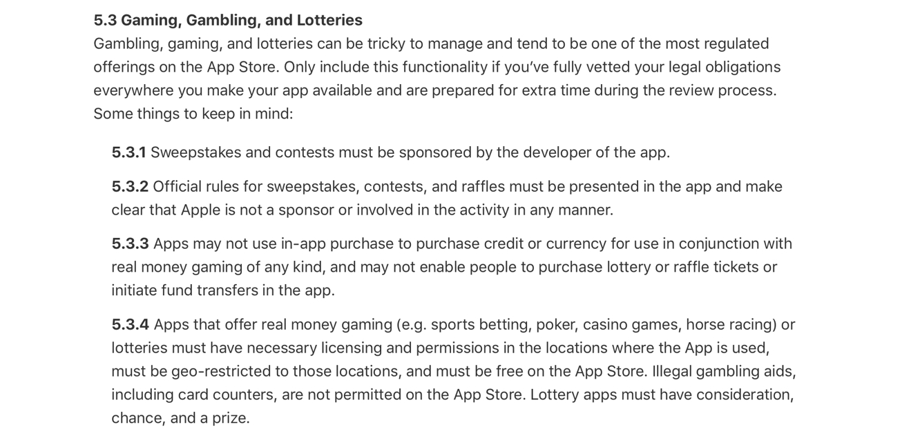 Apple may be casting too wide a net in gambling app ban