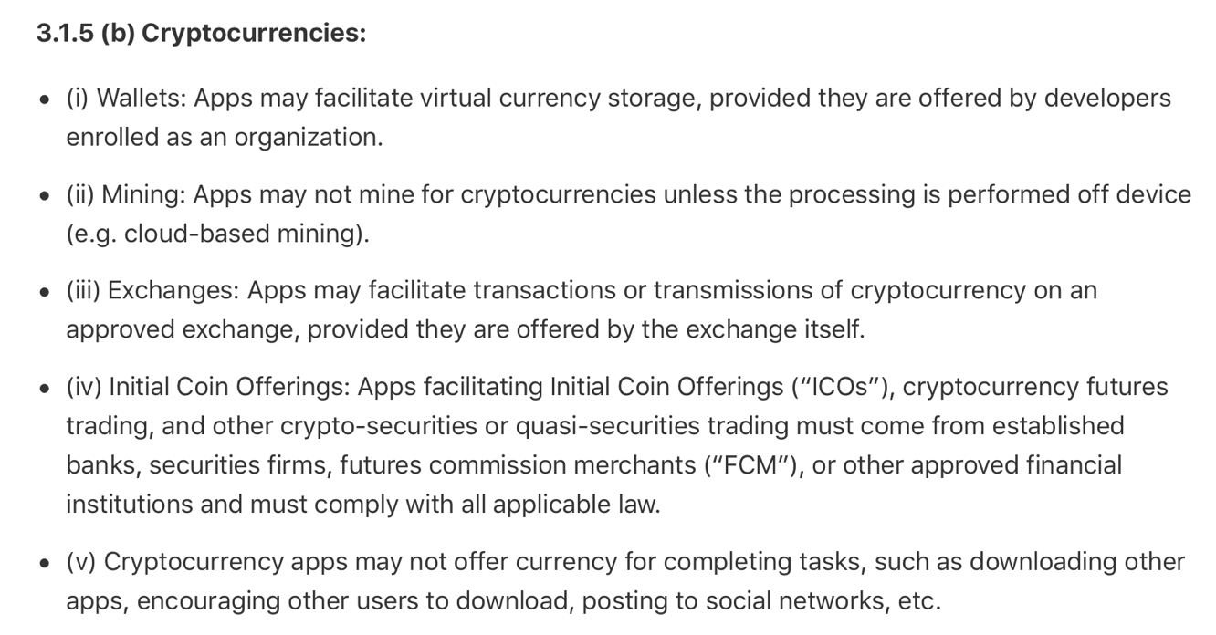 Apple bans cryptocurrency mining apps