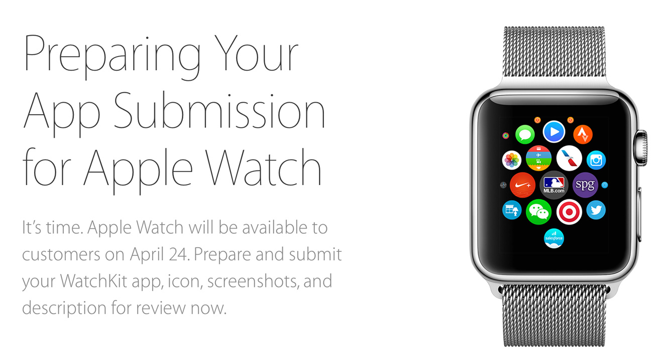 Apple now accepting all Apple Watch app submissions 1