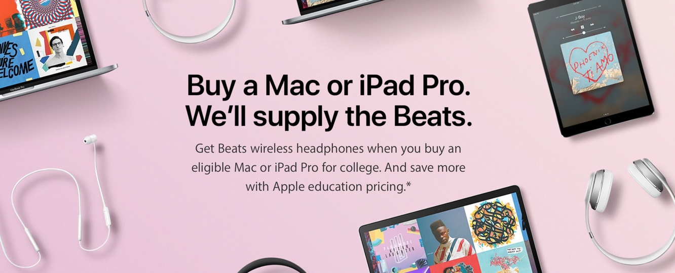 Apple announces 2017 Back to School Promo, offering free Beats headphones with Mac purchase 1