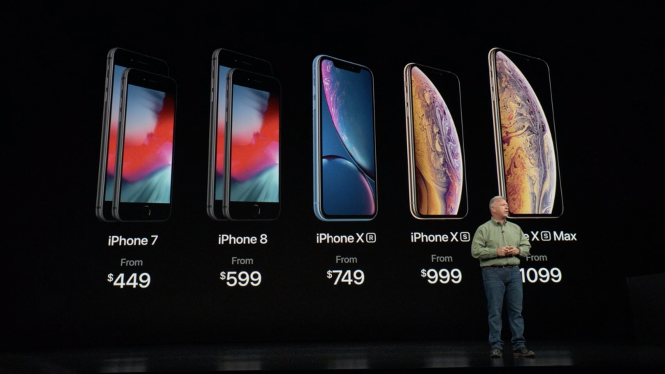 Apple keeps iPhone 7, iPhone 8 in lineup, drops iPhone X