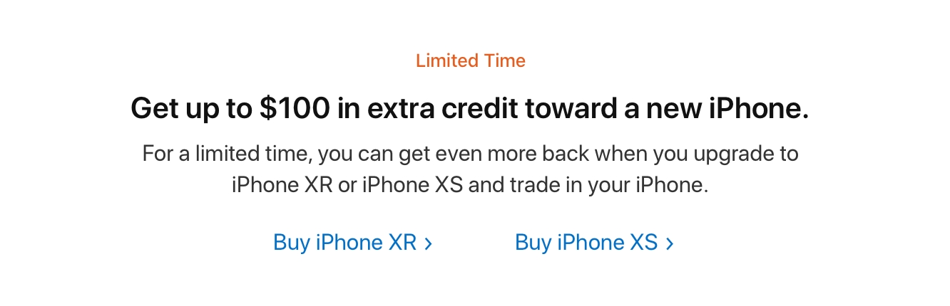 Apple offering up to $100 extra credit on iPhone trade-ins 1