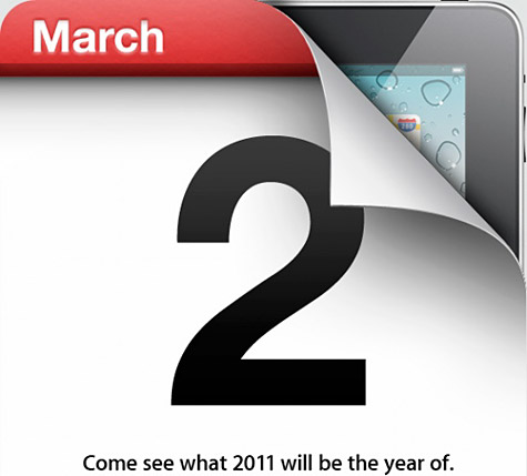 Apple confirms iPad 2 event for March 2 1
