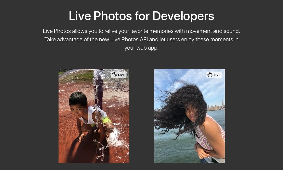 Apple's new JavaScript API Adds Web Support for Live Photos
