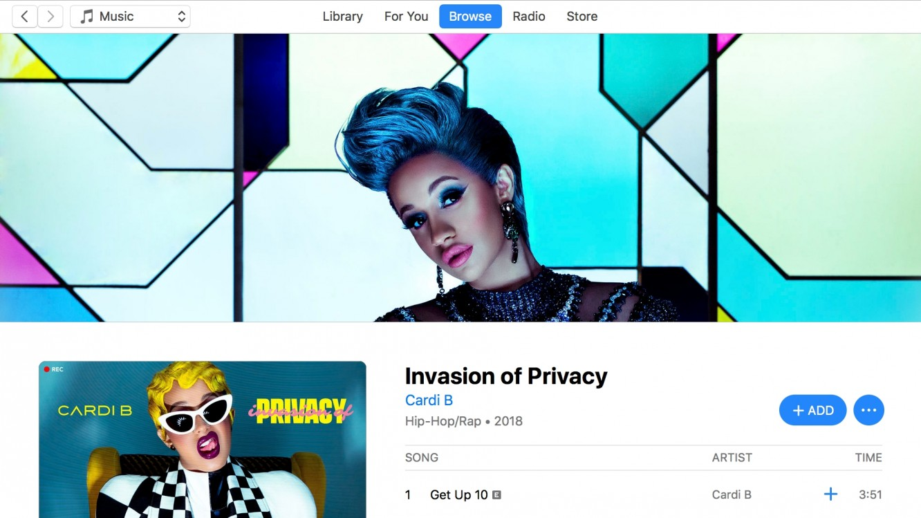 Cardi B breaks records for her debut album on Apple Music