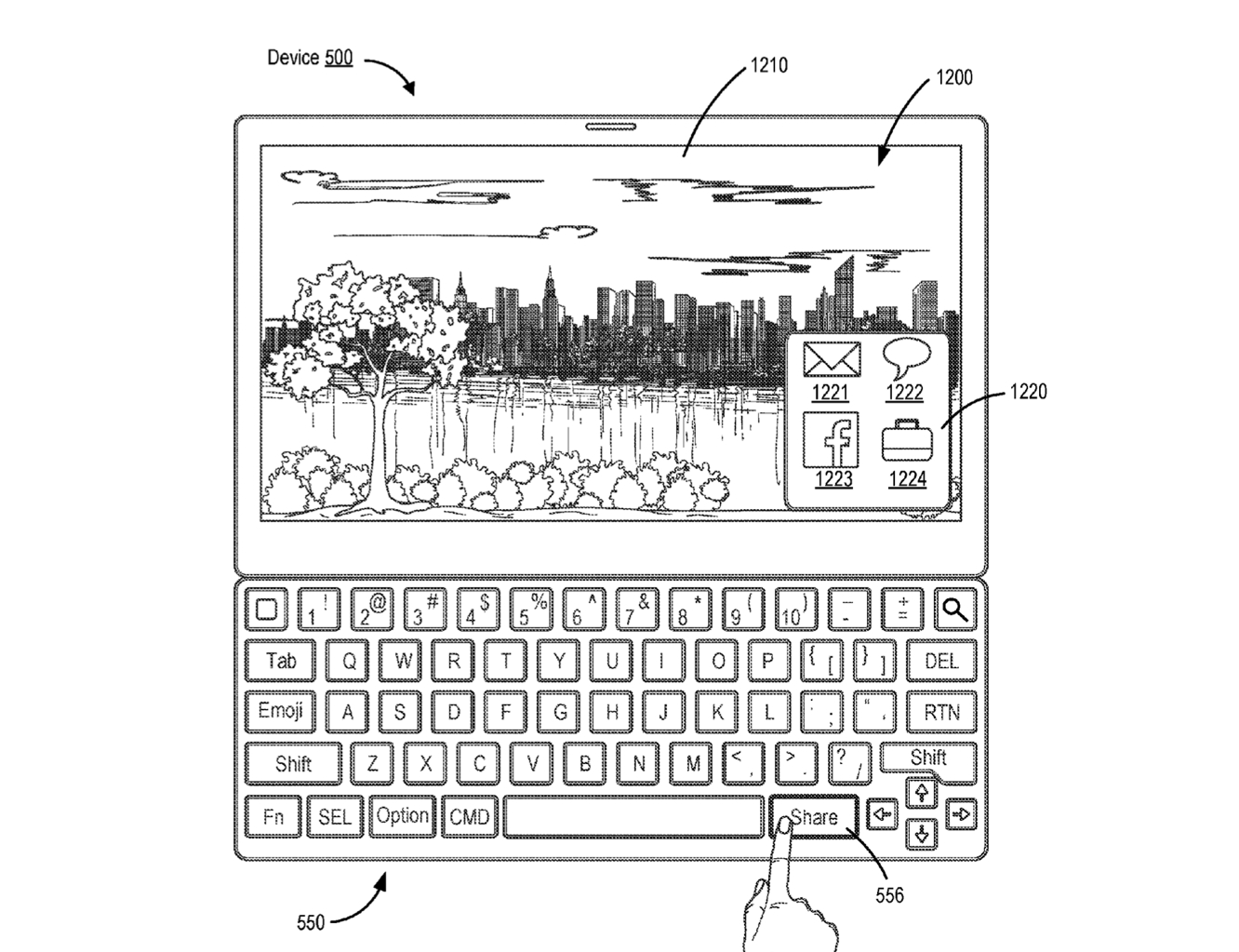Apple patent points to possible new Smart Keyboard with dedicated 'Share' and 'Emoji' keys