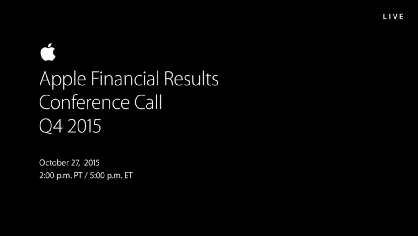 Notes from Apple's Q4 2015 earnings call
