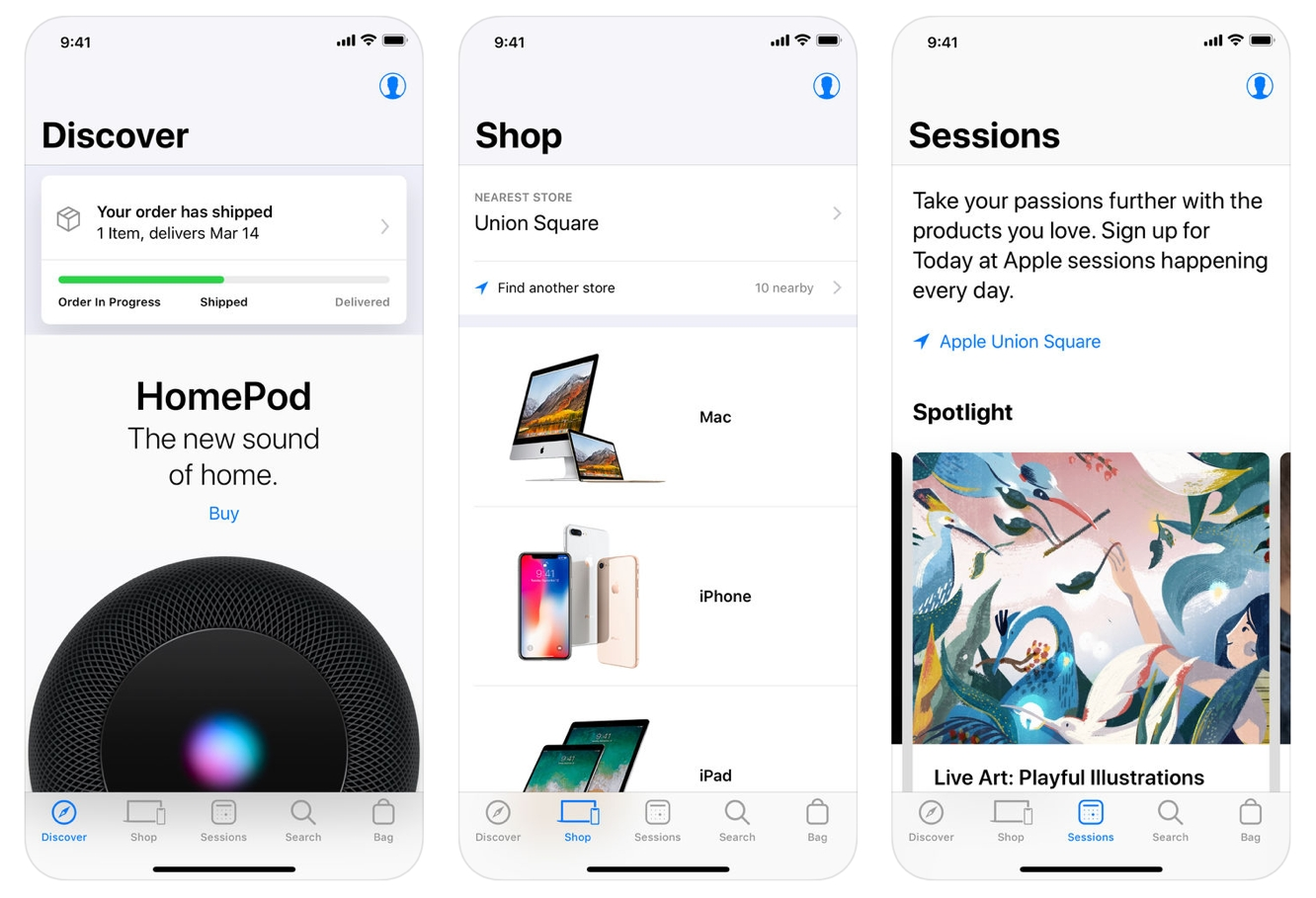 Apple Store app adds voice search