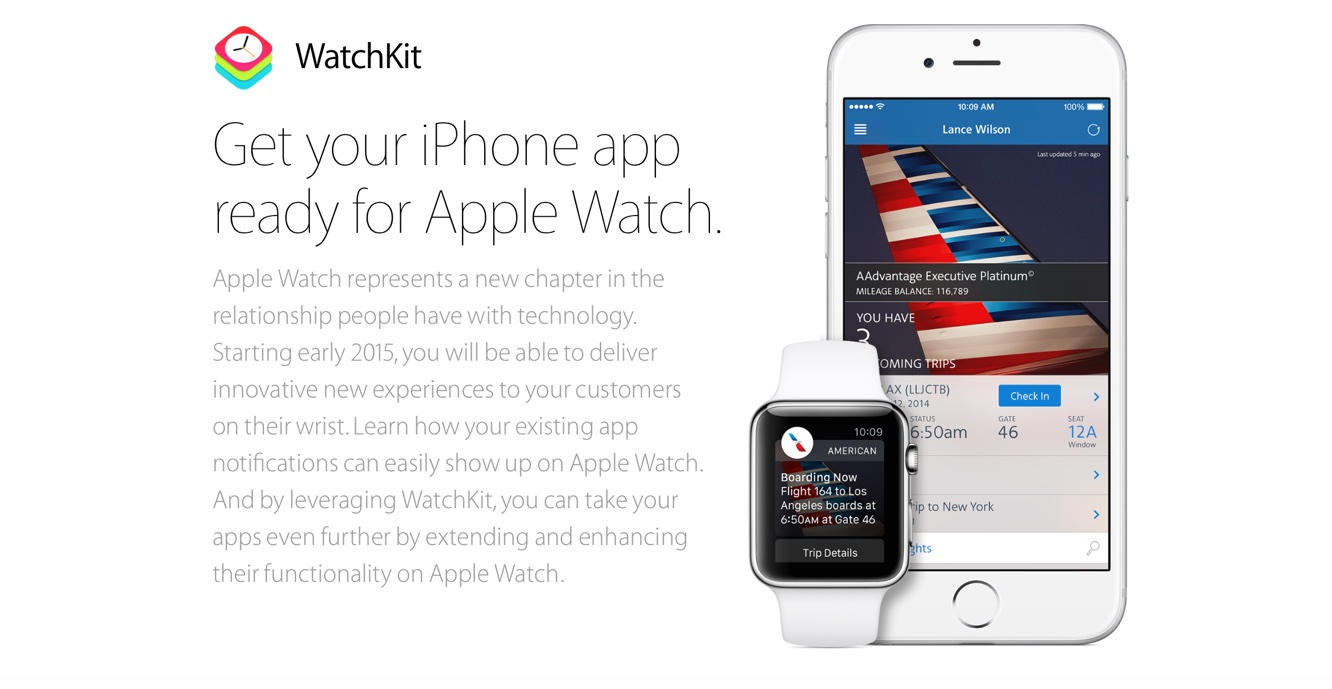 Apple announces WatchKit software tools available to developers now