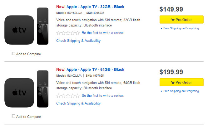 Best Buy taking preorders for new Apple TV 1