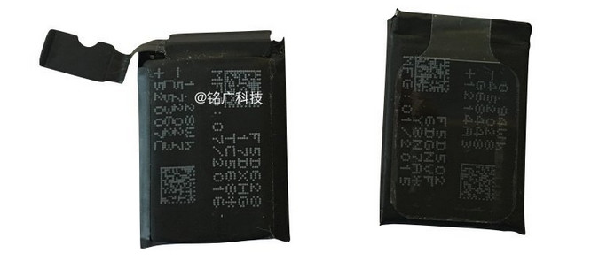Photos hint at improved battery for new Apple Watch
