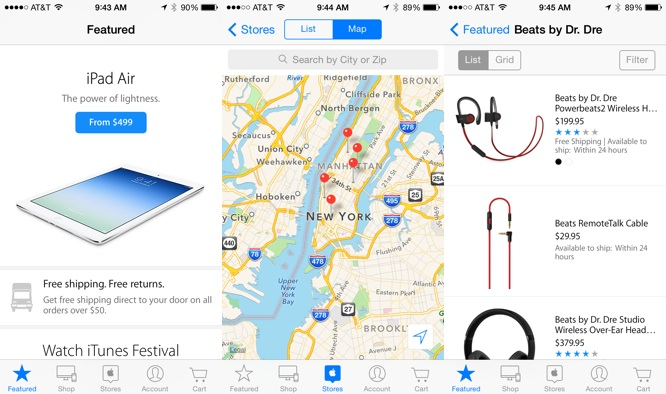 Redesigned Apple Store app version 3.0 adds new features