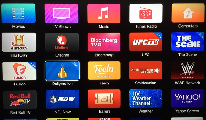 Apple TV adds Dailymotion, Fusion, The Scene, UFC channels