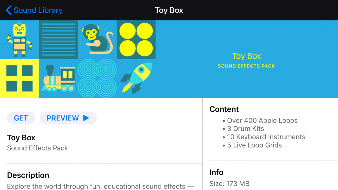 "GarageBand gets new ""Toy Box"" educational sound pack, TrueDepth"