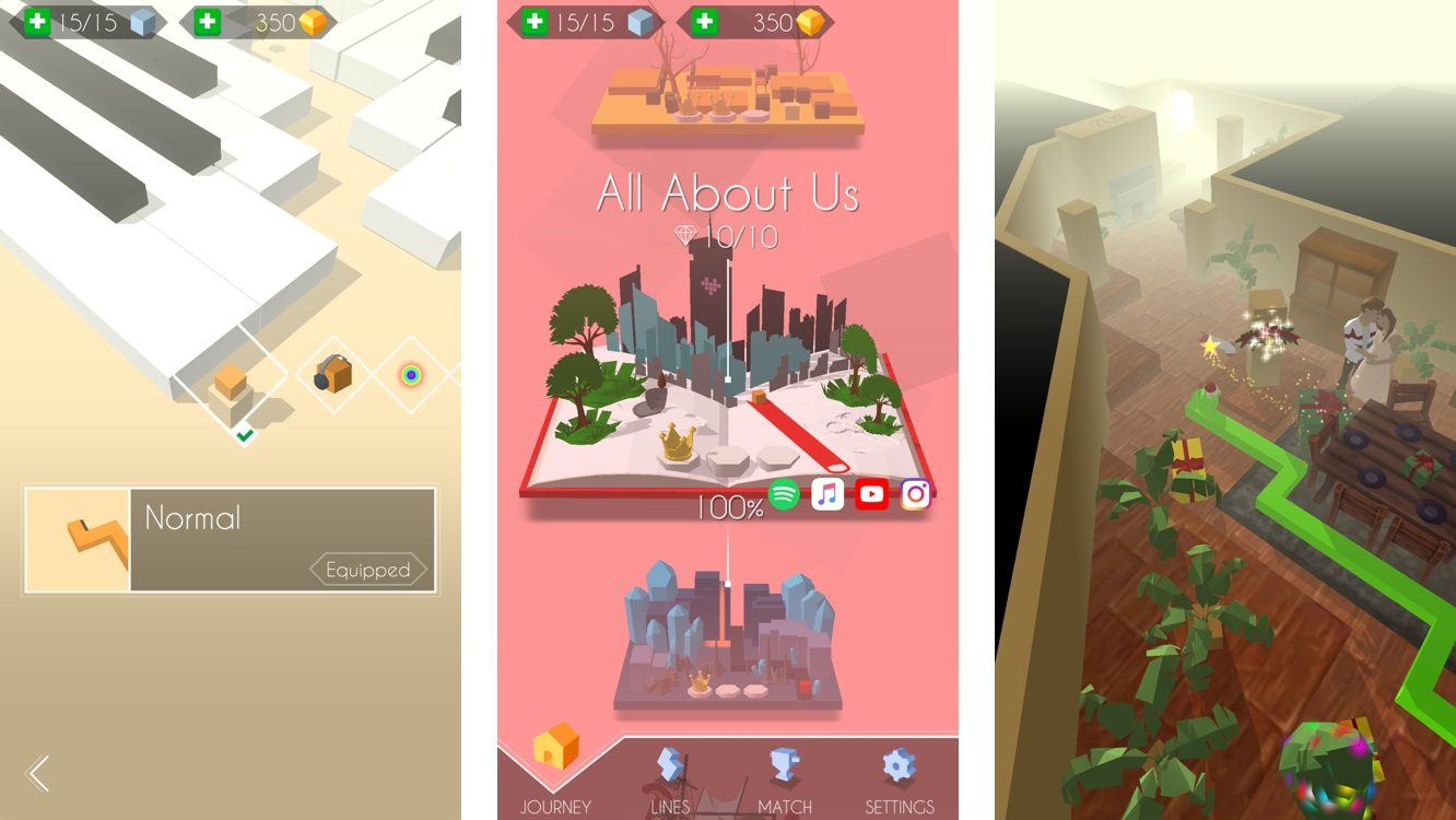 Apps: App Diary: Dancing Line, Escape Hunt: The Lost Temple, Splitter Critters, The Catan Universe