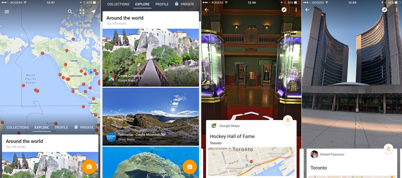 Google releases Google Street View app for iOS