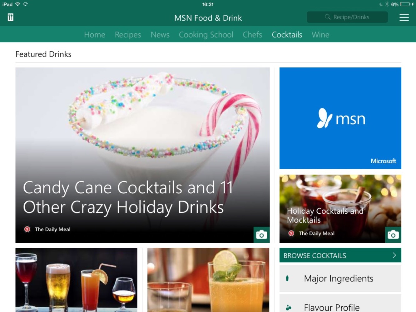 apps msn food and drink News: Apps of the Week: Microsoft's MSN apps