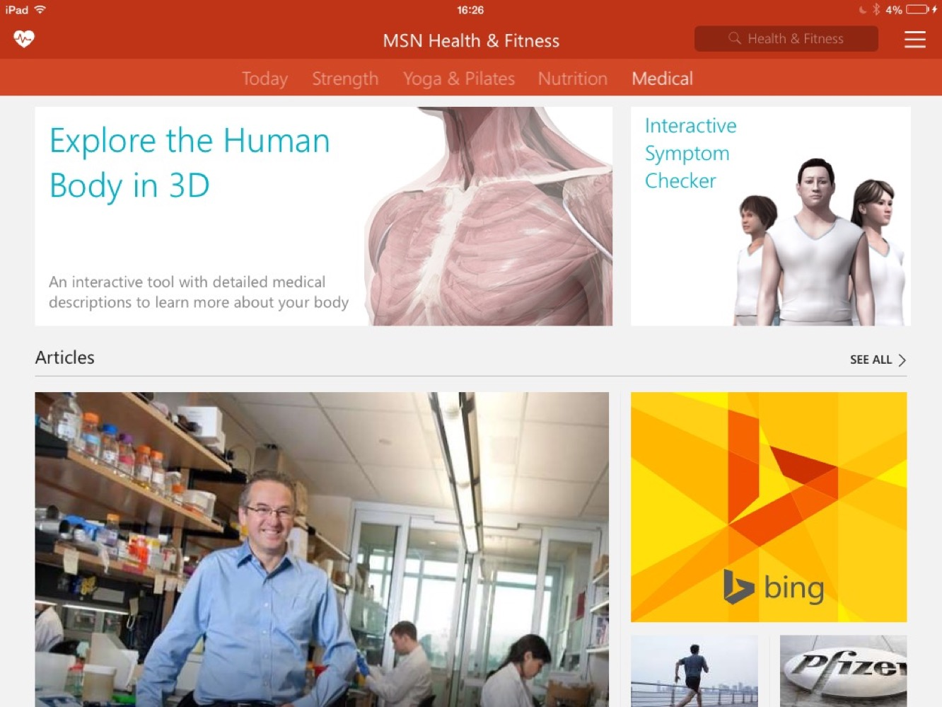 apps msn health and fitness News: Apps of the Week: Microsoft's MSN apps