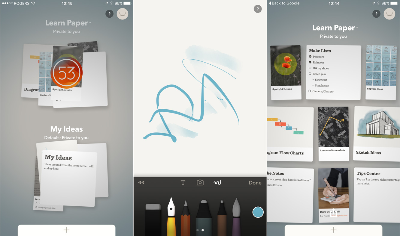FiftyThree's Paper app comes to the iPhone