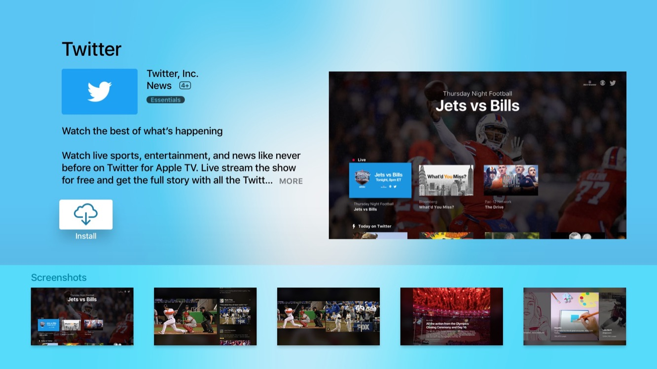 Twitter releases Apple TV app