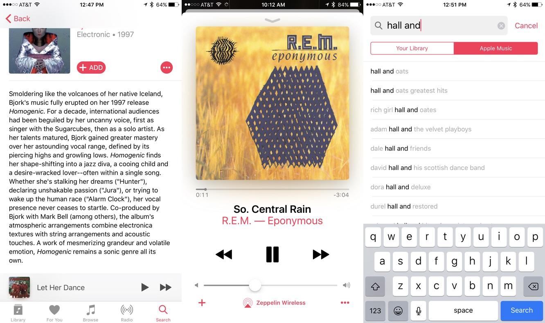 App Diary: Apple Music in iOS 10