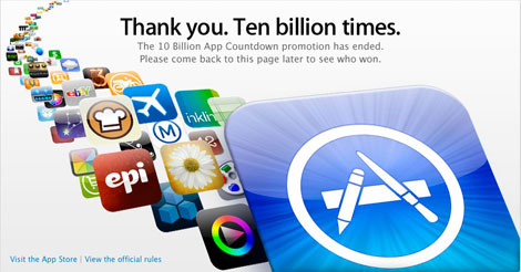 10 Billionth app downloaded, winner to be named [updated]