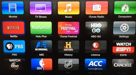Apple TV adds A&E, History, Lifetime channels 1