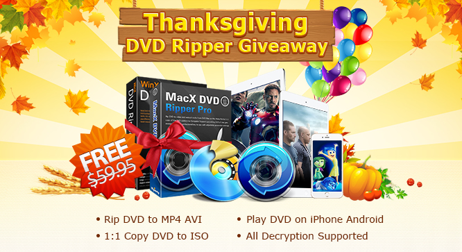 MacX DVD Ripper Pro & WinX DVD Ripper Platinum Giveaway 23