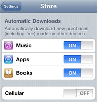 Setting up Automatic Downloads in iOS and iTunes 1