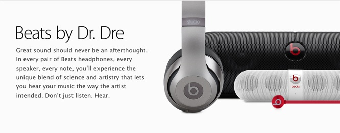 Apple adds 'Beats by Dr. Dre' section to online store