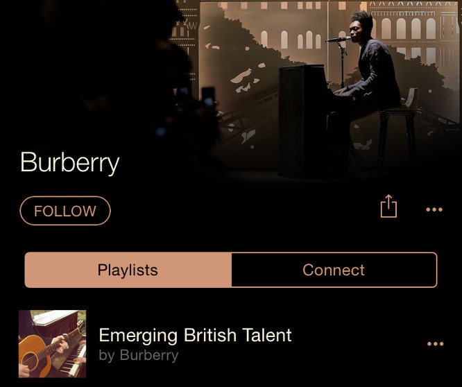 Burberry channel launches on Apple Music