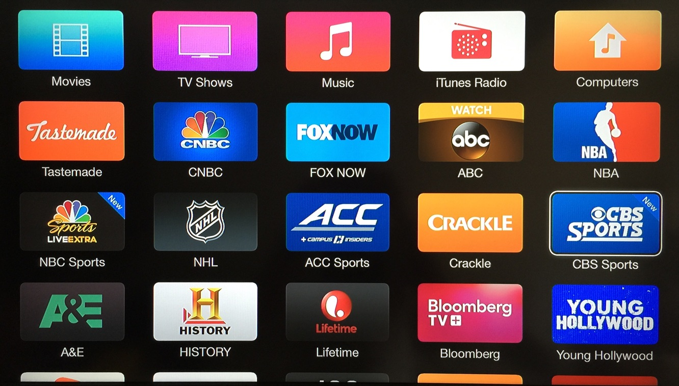 Apple TV adds CBS Sports, USA Now channels 1