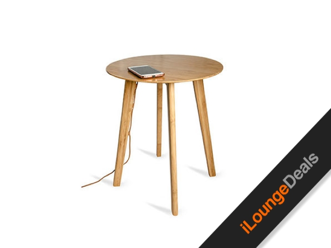 Daily Deal: FurniQi Bamboo Wireless Charging Side Table