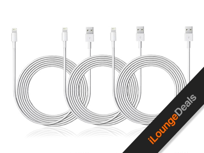 Daily Deal: 6.5-Ft Apple MFi-Certified Lightning Cables, 3-Pack