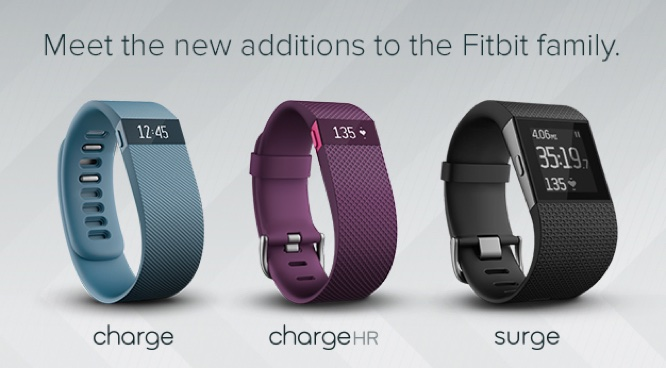 Fitbit announces Charge, Charge HR + Surge health and fitness trackers