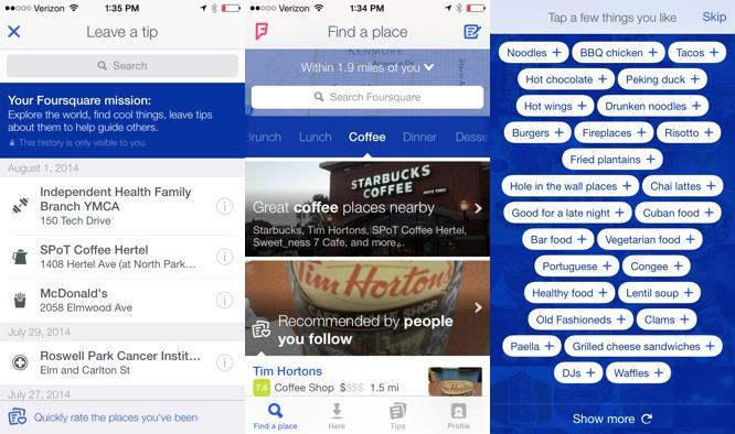 Redesigned Foursquare 8.0 removes check-ins