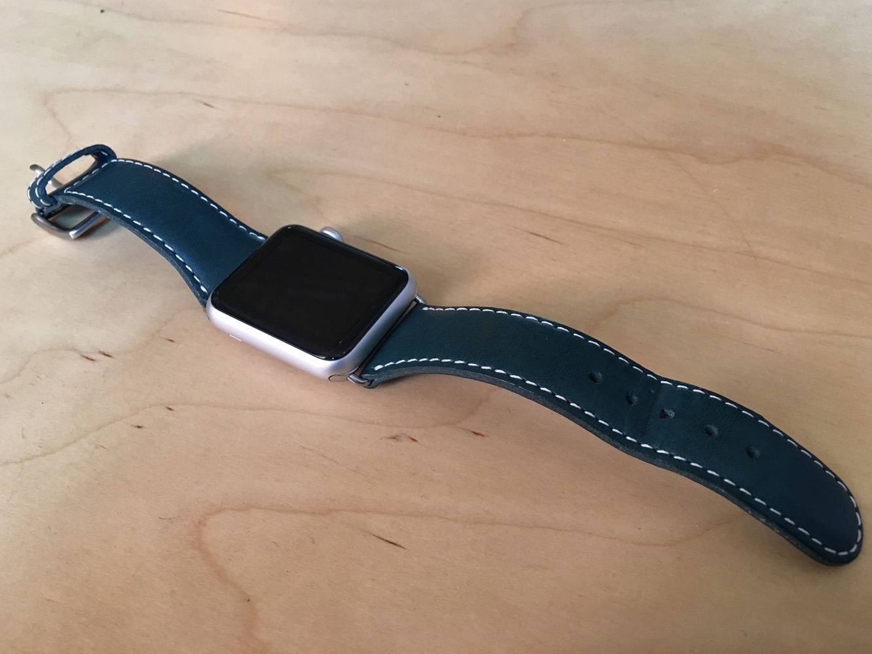 SLG Design D6 Italian Minerva Box Leather Strap for Apple Watch 1