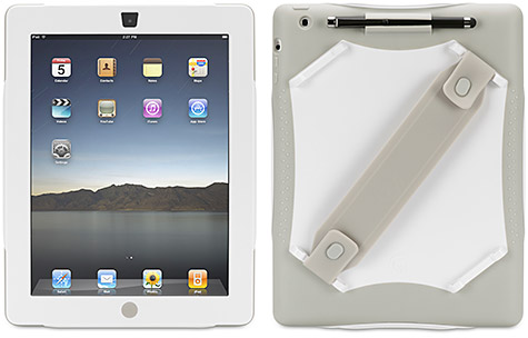 Griffin AirStrap Med Protective Case & Strap For iPad 3 & iPad 2 - White/Grey