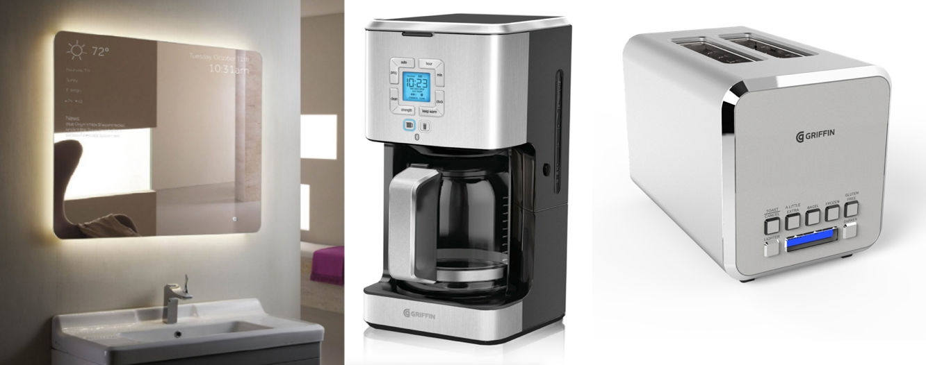 New Griffin Home lineup includes app-enabled Connected Mirror, Coffee Maker, Toaster