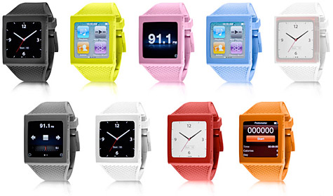 Hex intros watch band for iPod nano 6G 1