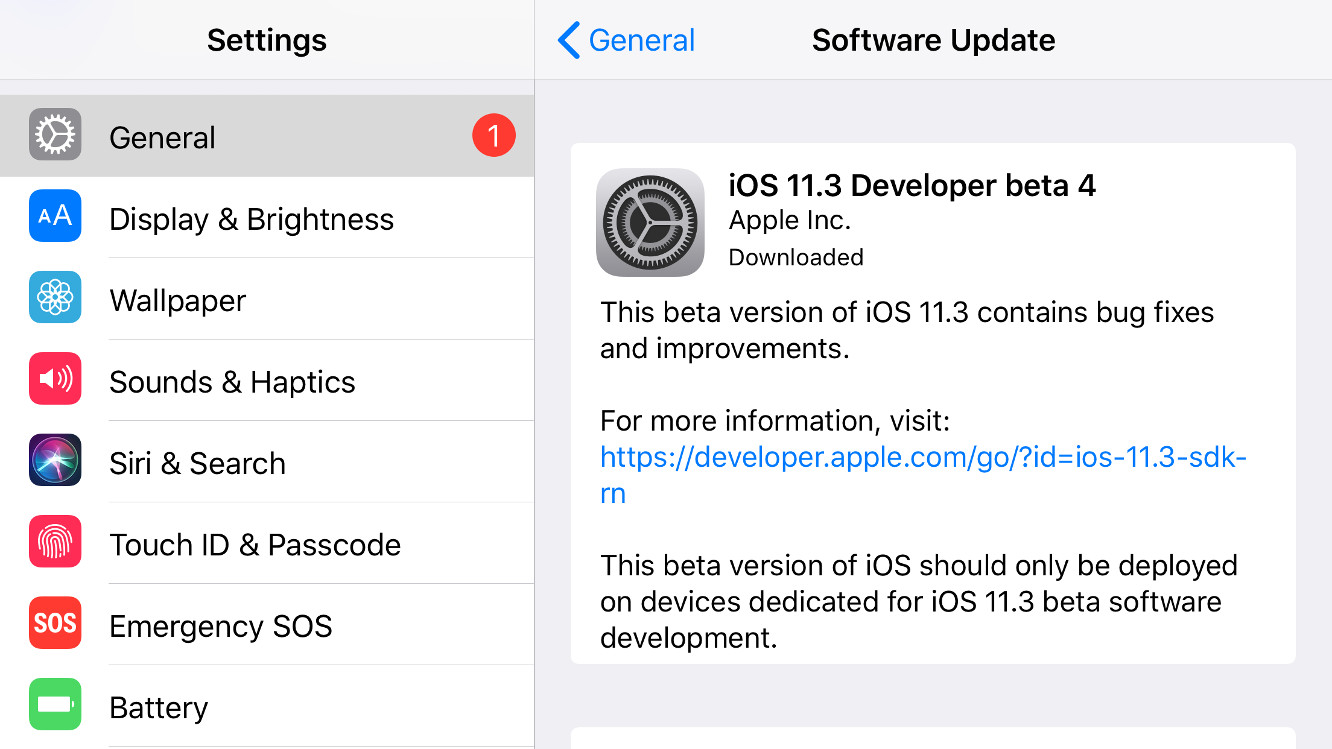 Apple releases fourth iOS 11.3, tvOS 11.3 betas to registered developers
