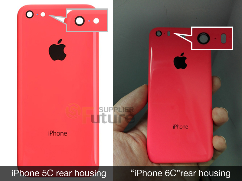 Alleged 'iPhone 6c' rear shell photos leaked