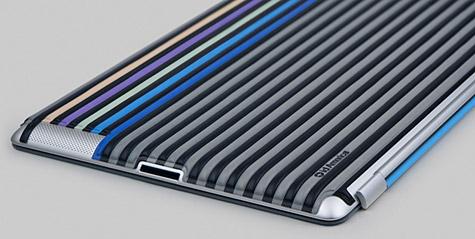 id America intros Cushi Stripe skin for iPad 2 1