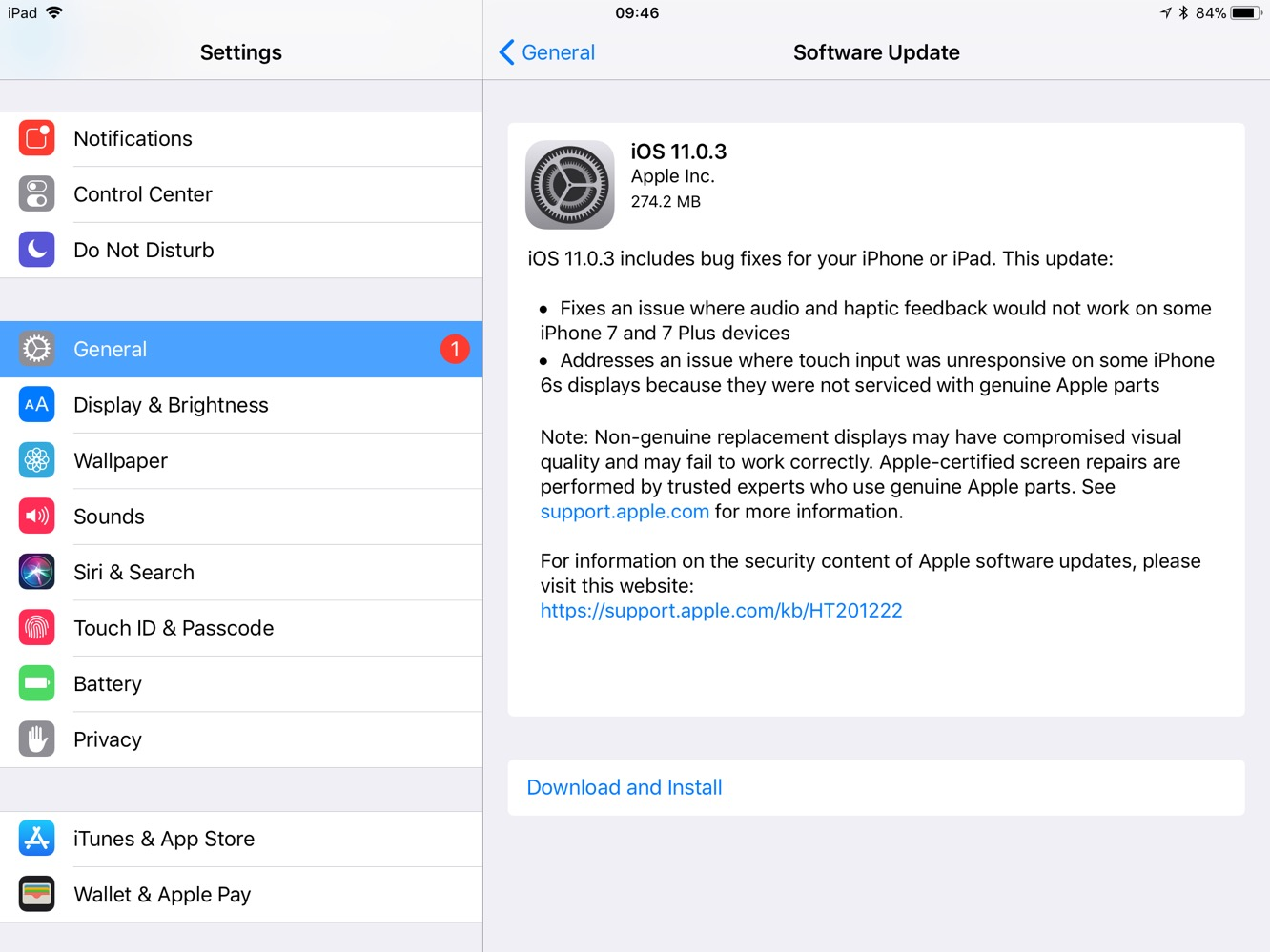 News: Apple releases iOS 11.0.3 with a warning about 'non-genuine replacement displays'