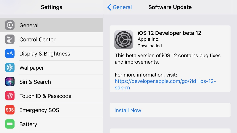 Apple releases iOS 12 beta 12, tvOS 12 beta 10, watchOS 5 beta 10