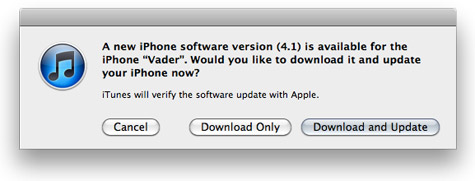 iOS 4.1 for iPhone, iPod touch now available 1
