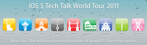 Apple announces iOS 5 Tech Talk Word Tour 1